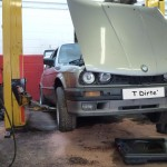 E30 M52 Conversion E30 Jacked up to Bleed up